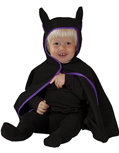 Foxxeo 40218 I Baby Fledermaus Cape schwarz Babykostüm Halloween Gr. 80- 98, Größe:80/86