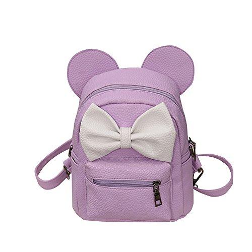 DOGZI Handtasche Damen, Schultertaschen Für Damen Tasche Für Damen Rucksack Ledertasche Kleine 2017 New Mickey Rucksack Female Mini Bag Rucksack (Rosa)