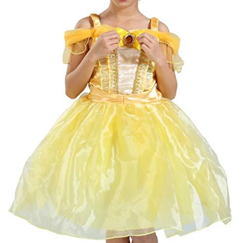 Cuteelf Halloween Kleid Halloween Karneval Kinderrock Performance Kleidung gelbes Kleid Kostüme wunderschöne atemberaubende Party Kleid Prinzessin Kleid Mädchen MustHave Abendkleid