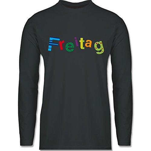 Shirtracer Statement Shirts - Freitag - Herren Langarmshirt Dunkelgrau