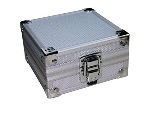 DDOQ Tattoo Ausrüstung Box Professionelle Leere Tattoo Maschine Box Aluminiumlegierung Fall mit Schwamm für Tattoos Ausrüstungen (Farbe : Silver)
