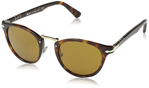 Persol typewriter edition occhiali da sole, marrone (havana/brown), 49 uomo