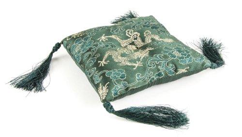 Berk KH-374-MG Meditations-Zubehör - Klangschalen Kissen mit Quasten, Circa 13-14 cm, grün