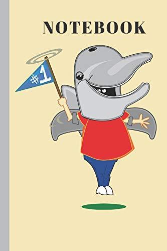 NOTEBOOK: No.1 Dolphin Mascot   Writing  Journal (Bälle-maus-pad)