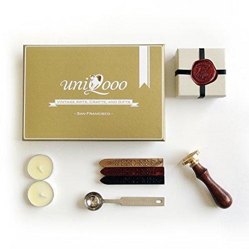 uniqooo-arts-crafts-siegelstempel-set-hogwarts-aus-rosenholz