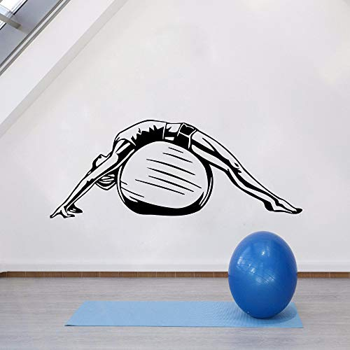 WWYJN Removable Wall Sticker Health Life Ball Wall Vinyl Decal Design Pattern Fitness Wall Poster Vinyl Yoga Style Wall Mural77x42cm