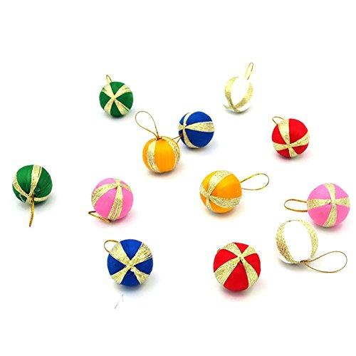 YUYU Colore decorazione Natale palla di Natale ornamenti di festa regali dell'albero di Natale (2