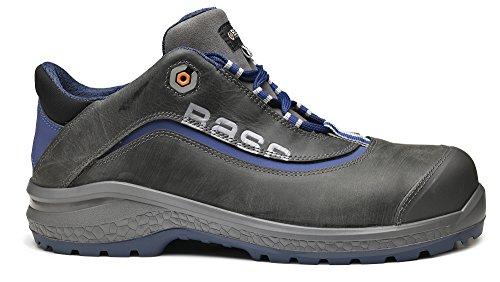 Base BO874 Joy S3 SRC Unisex Classic sowie rutschfeste geschnürt Safety Shoe Grau / Blau