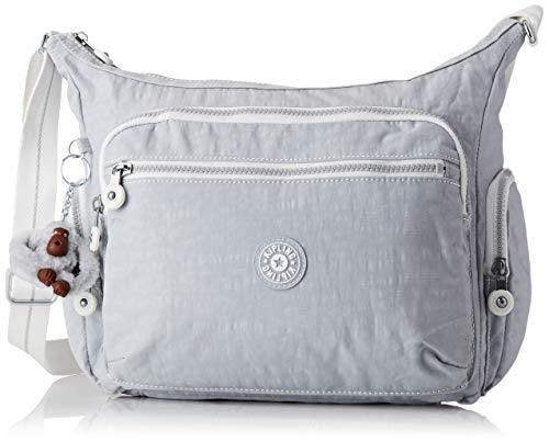Kipling Damen GABBIE Umhängetasche, Grau (Active Grey Bl), 35.5 x 30 x 18.5 cm - Schicke Kleine Crossover