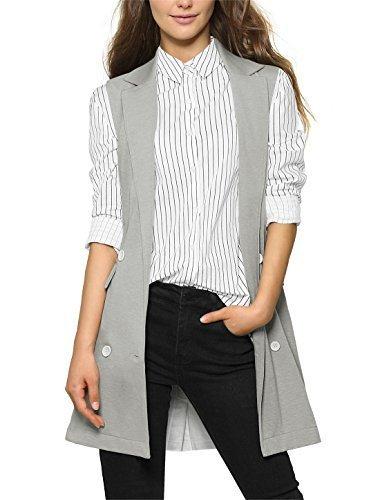 Allegra-K-Ladies-Sleeveless-Double-Breasted-Split-Back-Long-Vest