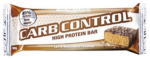 Body Attack Carb Control Proteinriegel, Latte Macchiato, 1er Pack (10x 100g)