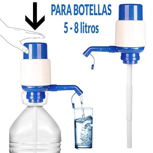 DISPENSADOR BOMBA AGUA UNIVERSAL BOTELLA GARRAFA 5L, 8L, 10L, 2.5L ANTI-GOTEO, ADAPTABLE, MANUAL CAMPING, ESCUELA, OFICINA, HOGAR MARCA REGALITOS TV