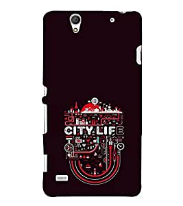 EPICCASE City life Mobile Back Case Cover For Sony Xperia C4 (Designer Case)