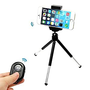Mini Tripod Stand Holder + Remote Control Shutter For iPhone 6 5S 5C 5 4S Galaxy Note4 3 2 S6 S5 S4 S3 (pattern 5)