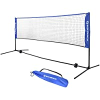 SONGMICS Filet de Tennis Badminton Pliable Facile à Monter Facile à Transporter Longueur 3m Hauteur réglable (107cm, 120cm, 155cm)