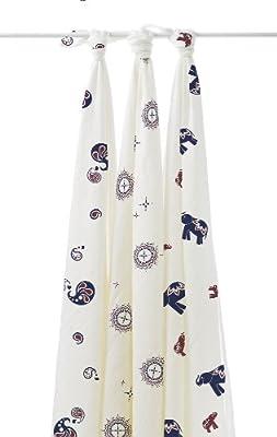 aden + anais 9203G - Pack de 3 muselinas de bambú, diseño Diwali, multicolor