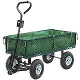 Handwagen mit herausnehmbarer Plane 300kg - Transportkarre Gerätewagen Gartenwagen