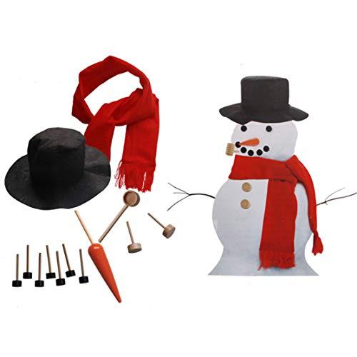Happy Event Roter Schneemann Dress Up Kit | Spiele im Freien Winter Tools | Weihnachts-Hausdekorationen (A)