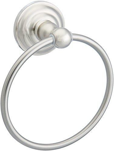 AmazonBasics - Toallero de anilla de diseño tradicional - Níquel satinado