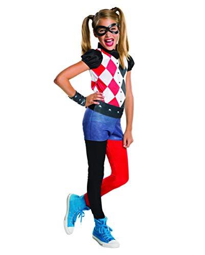 Horror-Shop DC Comics Lizenz Harley Quinn Kinderkostüm 4-TLG. S