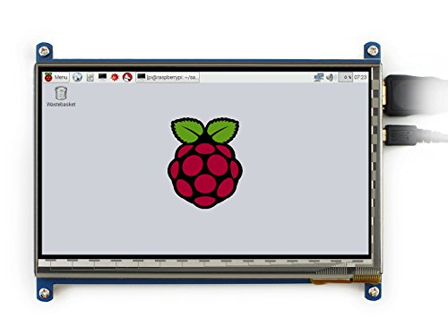 Price comparison product image Makibes 7 inch Capacitive Touch Screen LCD(C) 1024X600 High Resolution HDMI with Bicolor Case for Raspberry Pi / BB BLACK / PC Systems / Raspberry Pi 3 Model B