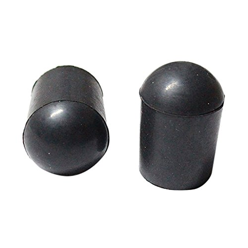 MagiDeal 2 Stück Schwarze Gummispitze Gummi Schutz Endpin für Kontrabass