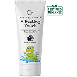 Life & Pursuits: Certified Organic Ayurveda Baby Diaper Rash Cream, 100% Natural - 40gm