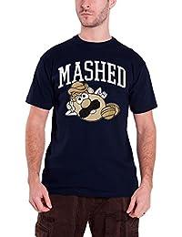 Mr Potato Head T Shirt Herren Mashed Vintage logo Nue offiziell Hasbro Blau