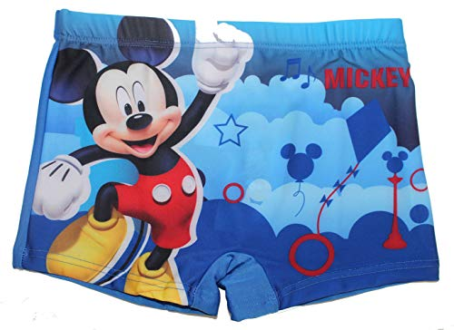 Disney Micky Maus Jungen Badeshort Badehose (Blau, 122)