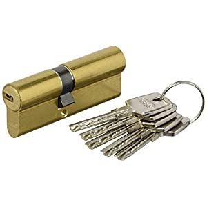 ABUS D6 _ mm 35/45 _ KA – eurocilindro Key of points Brass Matt 5 K and T Keys Equal