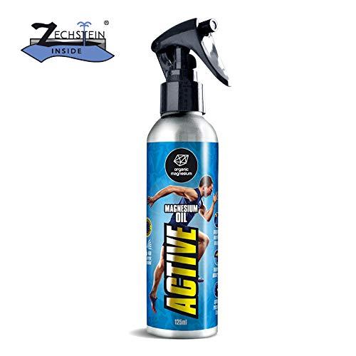 Ultra Pur MagnesiumÖl Aktiv Spray - 100% Natürlich Reines Zechstein Öl von Organic Magnesium   Perfekt für Sport & Muskel entspannung  Flüssig MagnesiumChlorid Oil Konzentrat -