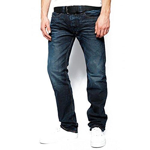 Diesel Herren Straight Leg Jeanshose Blau Blau W33