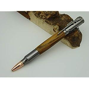 Handgedrechselter Kugelschreiber aus Bocote Holz, Jagd