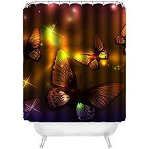 "dalliy costumbre mariposa Butterfly Resistente al agua poliéster Shower Curtain–Cortina de ducha (152cm x 183cm, poliéster, E, 60"" x 72"""