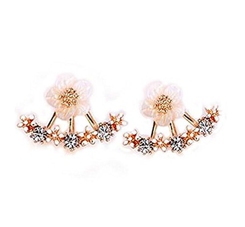 - 415WyDocUKL - Hosaire 1 Pair New Fashion Style Small Cute Daisy Flowers Stud Earrings For Women Jewelry Accessories(Pink)