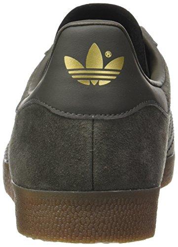 adidas Gazelle, Formatori Bassi Unisex – Adulto Grigio (Utility Grey/utility Grey/gum)