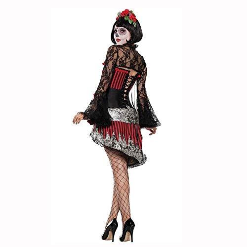 Fashion-Cos1 Frauen Mädchen Sexy Spinne Hexe Königin Kostüm Halloween Ghost Bride Vampire Witch Kostüm Party Uniform