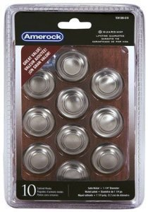 Amerock Cabinet Knobs 1-3/8 Dia. Inspirations Collection Satin Nickel 1 Proj. 10 / Pack by Amerock - Collection Satin Nickel Cabinet Knob