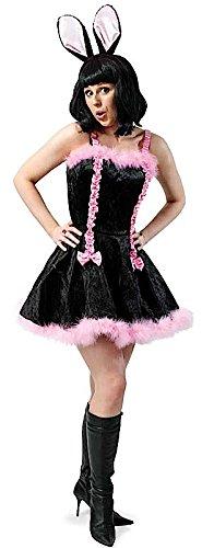 m Bunny Kleid Hasenkleid schwarz rosa Osterkostüm Osterhasenkleid Größe 36 (Oster Bunny Kostüm Für Erwachsene)
