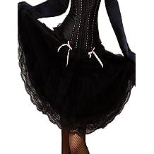 Yummy Bee Falda Larga Negra Acampanada Encaje Retro Rockabilly Años 50 Burlesque Patinadora Talla Grande 34 - 58
