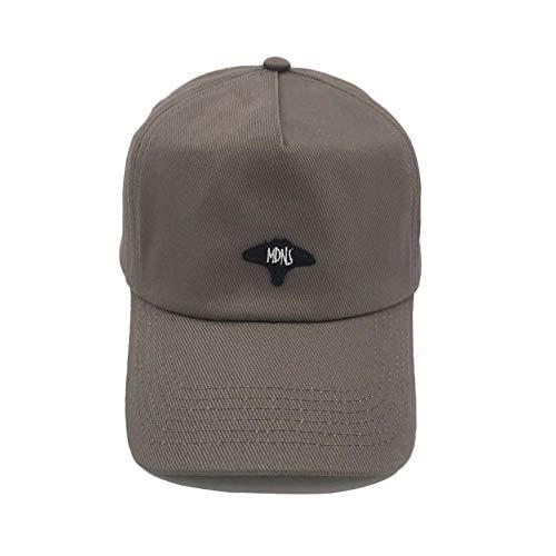 Retro mit dem Teufel Fisch Hut Baseball Cap lässig Mode Stickerei fünfteilige Hut Kappe Khaki einstellbar