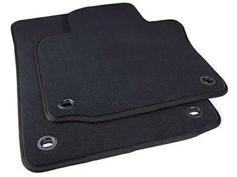 kfzpremiumteile24 Fußmatten / Velours Automatten Original Qualität Stoffmatten 2-teilig schwarz