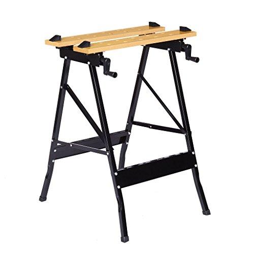 Finether Spanntisch klappbar Arbeitstisch Spannbacken Flexible Werkbank Werktisch mit großer Arbeitsfläche 56x20cm | Werkstatttisch bis 150kg Höhenverstellbar