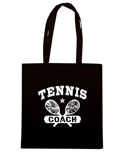 T-Shirtshock - Borsa Shopping OLDENG00677 tennis coach Nero
