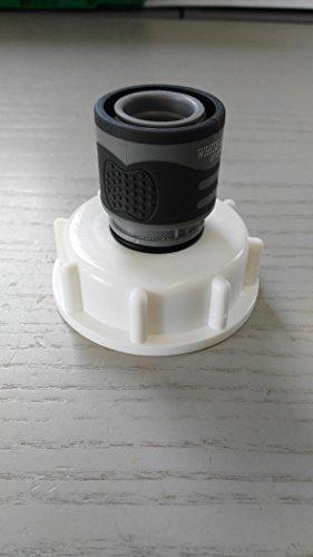 CMTech GmbH Montagetechnik - Promotion ams19 6 W2146s Bec Adaptateur avec raccord rapide Adaptateur compatible avec Gardena, IBC Réservoir Eau de Pluie de Accessoires de conteneurs Mamelon de Bidon