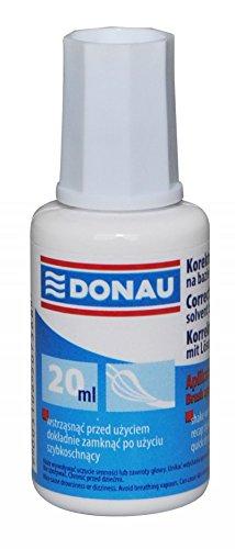 DONAU 7615001-99 Korrekturflüssigkeit mit Pinsel/Korrekturfluid, 20 ml