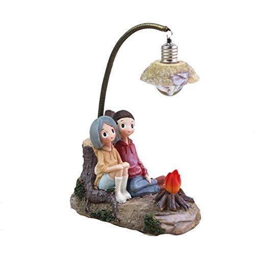 rz Nachtlicht Pärchen Lampe Wohnzimmer Schlafzimmer Dekorationen Basteln Geschenke für Home Lovers Party Valentine 's Day (B) ()