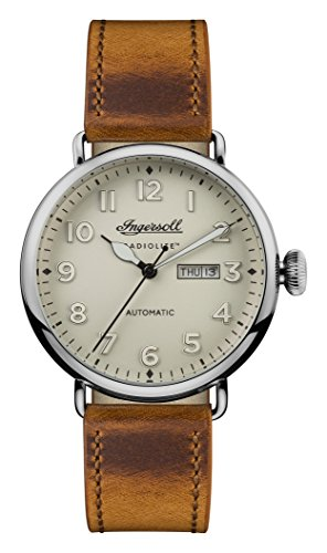 Ingersoll Mens Analogue Classic Automatic Watch with Leather Strap I03404