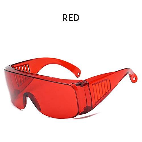 Loving Bird Liebevoller Vogel 2019 Mode Übergroße Sonnenbrille Frauen Transparente Brille Männer Einteiliges Objektiv Große Sonnenbrille Für Frauen Party Brillen UV400, rot