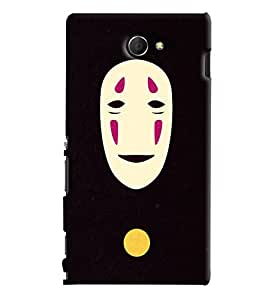 Blue Throat Mask Men Printed Designer Back Cover For Sony Xperia M2